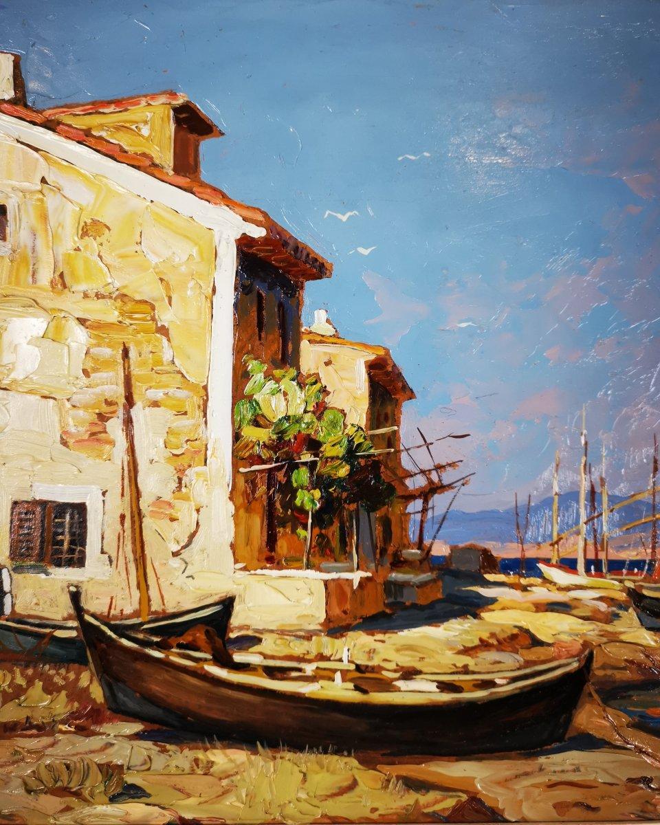 Gustave Vidal - Maison de pêcheurs étang de Biguglia Corse.-photo-5