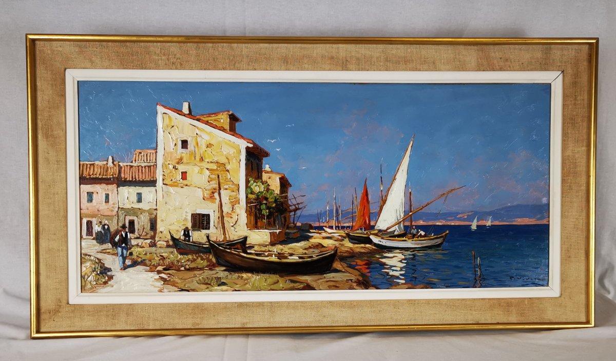 Gustave Vidal - Maison de pêcheurs étang de Biguglia Corse.