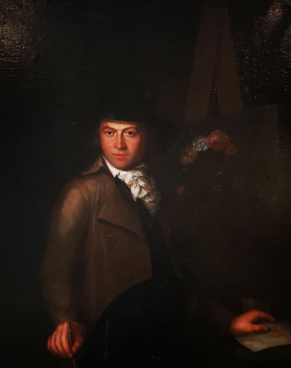 Autoportrait En Clair Obscur Du XVIIIème Siècle Vers 1770-1780.-photo-4