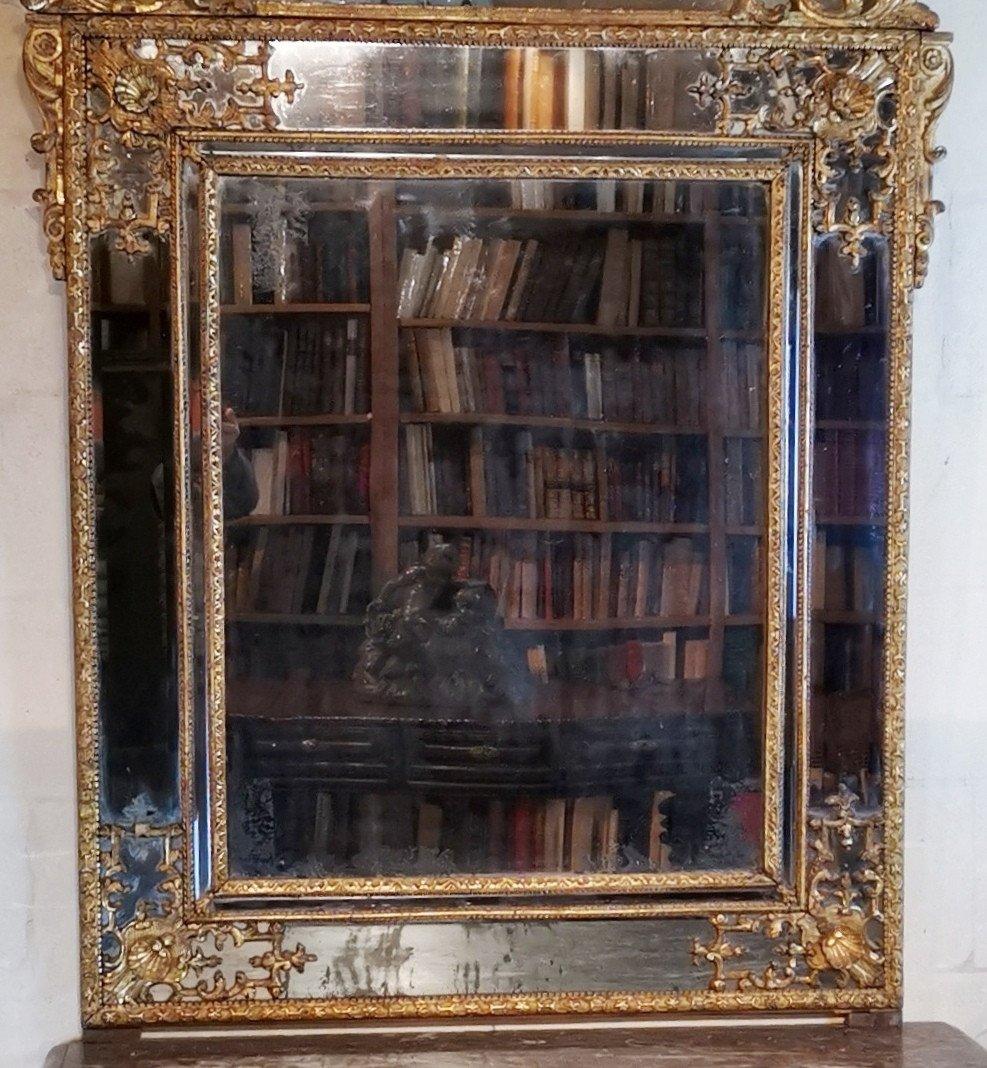 Miroir Régence, Début Du XVIIIe Siècle, 1710 - 1720.-photo-3