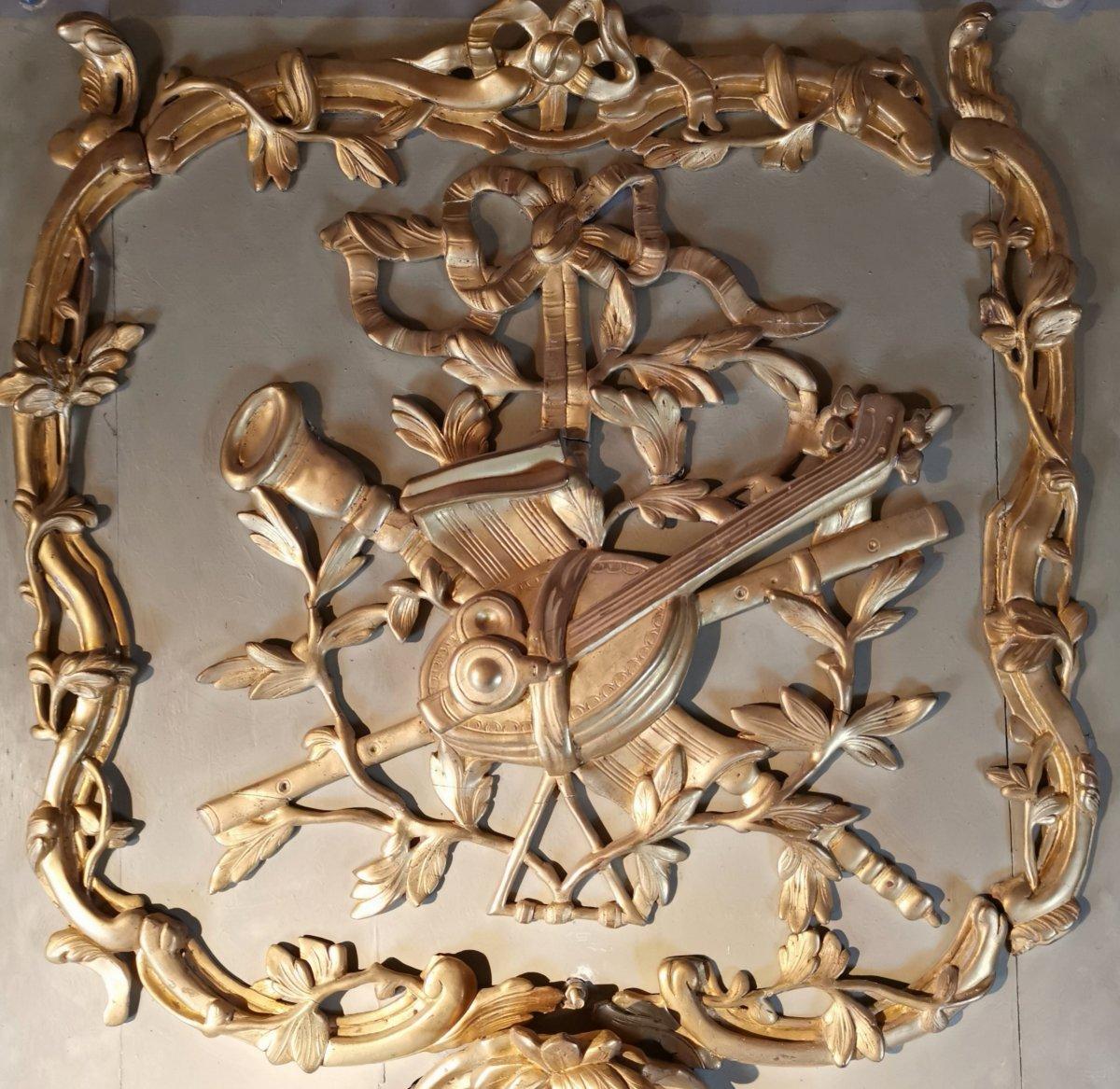 Trumeau de Boiserie  Louis XV - Transition - Louis XVI .