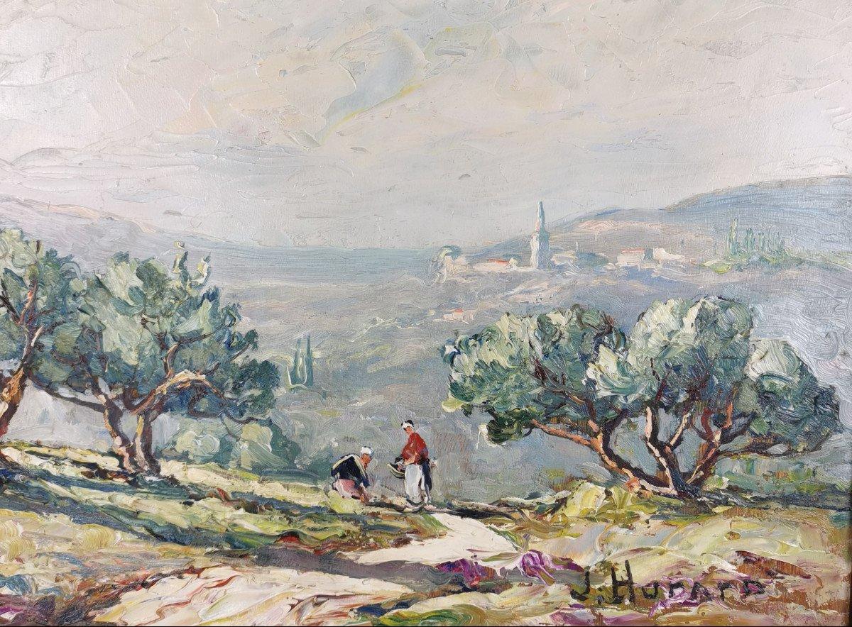 Joseph Hurard 1887-1956  Le Prieuré de Ste Victoire Notre Dame de Rochefort à Rochefort du Gard-photo-3
