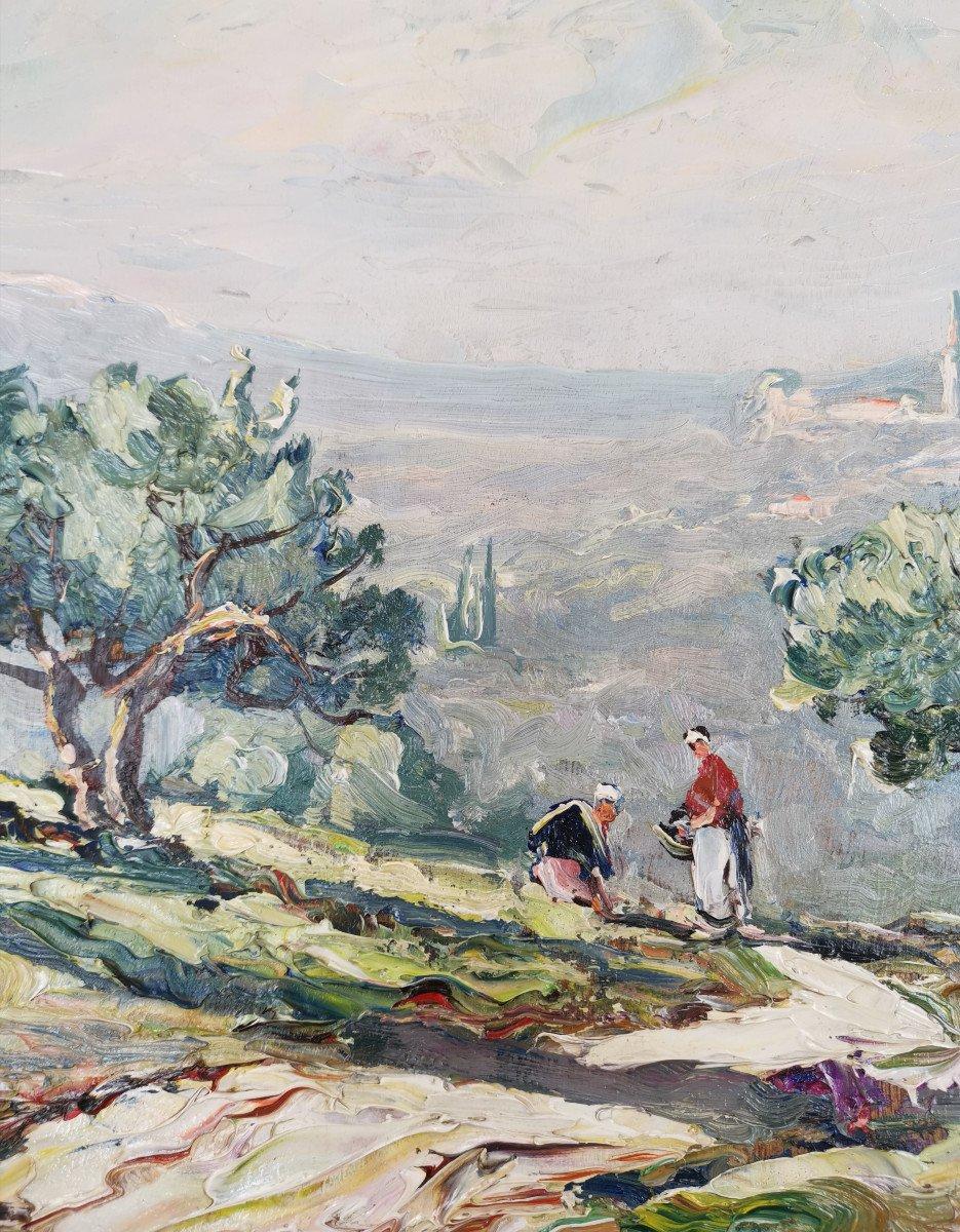 Joseph Hurard 1887-1956  Le Prieuré de Ste Victoire Notre Dame de Rochefort à Rochefort du Gard-photo-4