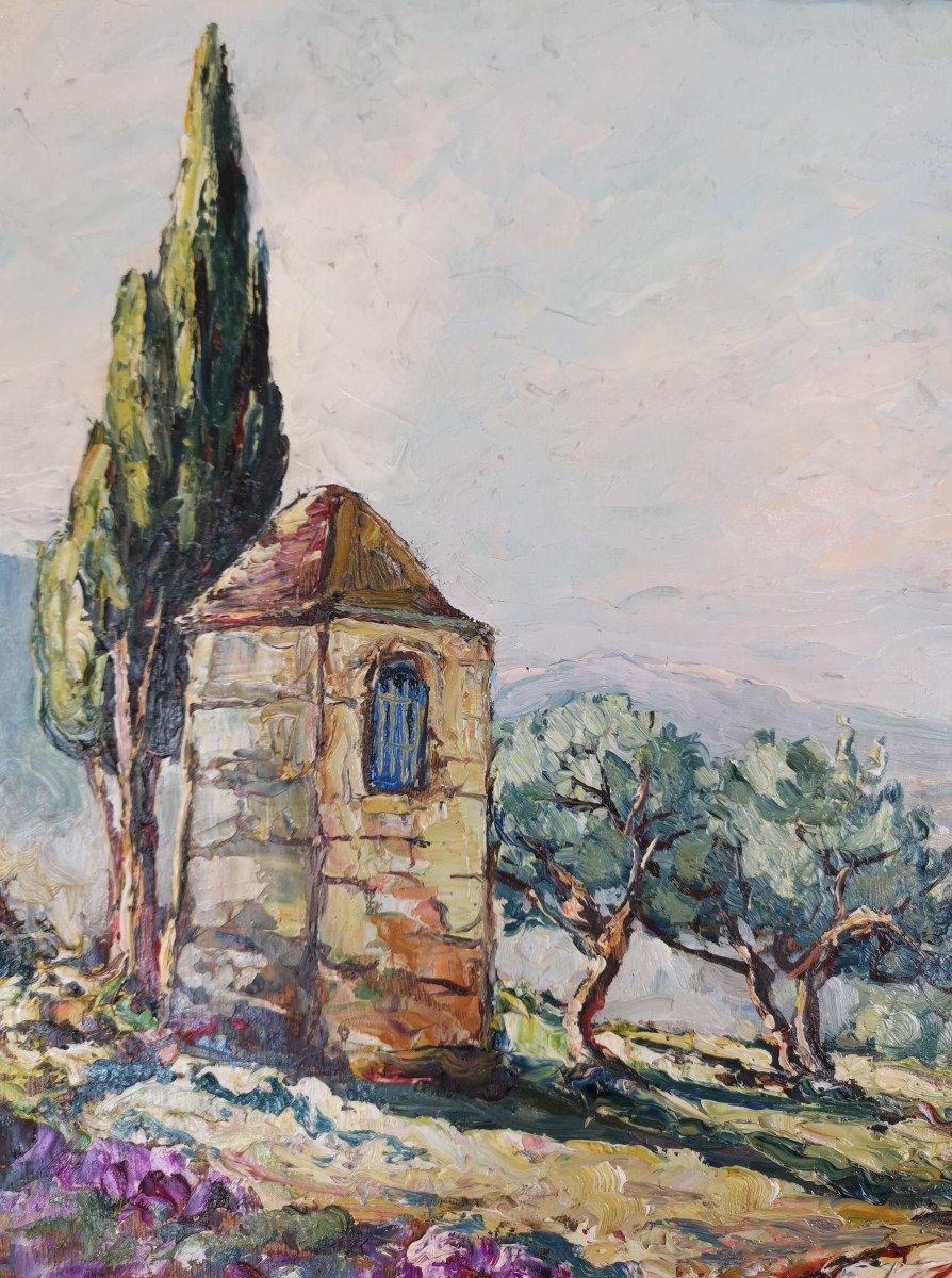 Joseph Hurard 1887-1956  Le Prieuré de Ste Victoire Notre Dame de Rochefort à Rochefort du Gard-photo-1