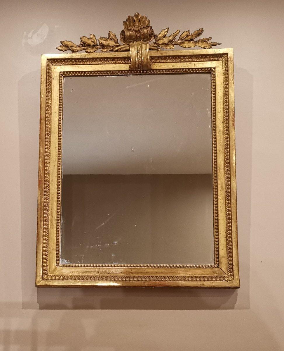 Miroir Néoclassique D'époque Louis XVI Vers 1780.