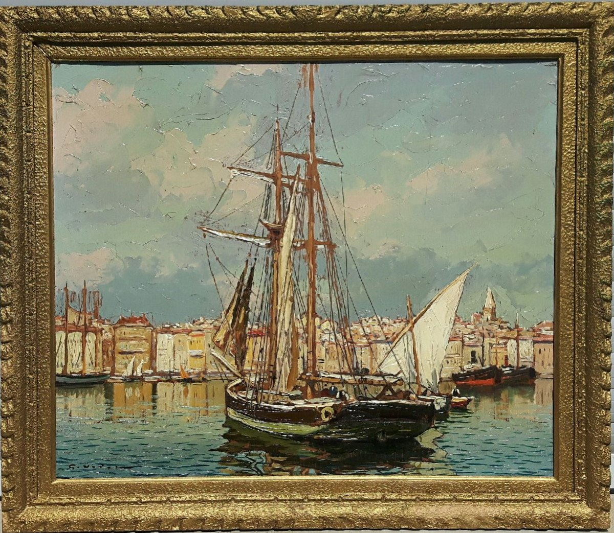 Le vieux Port de Marseille - Gustave Vidal, 1895-1966-photo-2