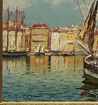 Le vieux Port de Marseille - Gustave Vidal, 1895-1966-photo-3