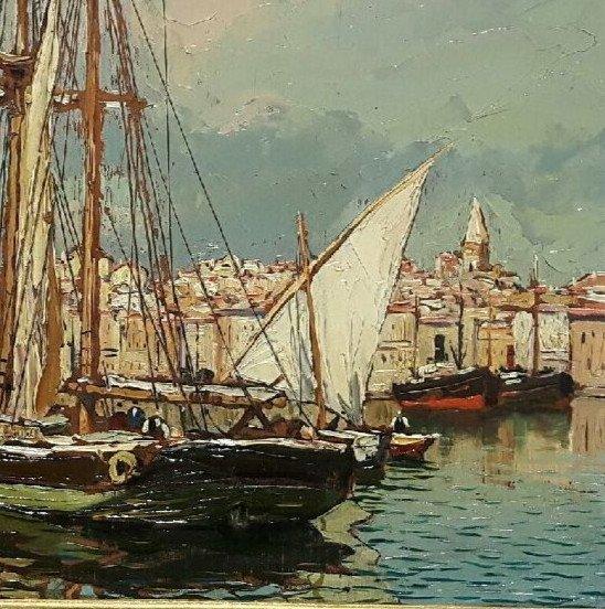Le vieux Port de Marseille - Gustave Vidal, 1895-1966-photo-1
