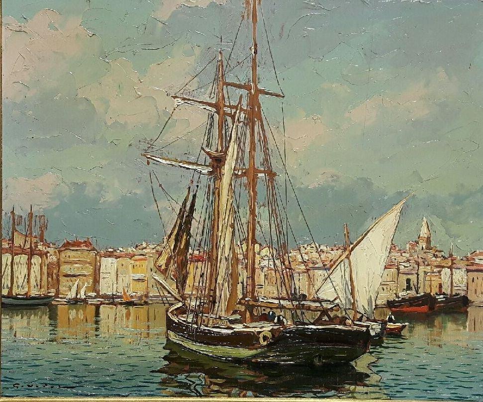 Le vieux Port de Marseille - Gustave Vidal, 1895-1966