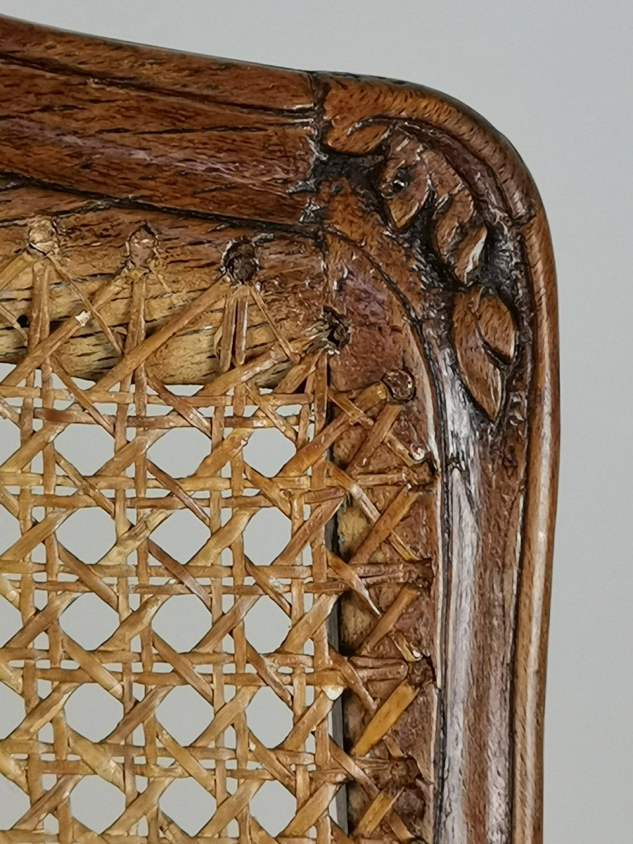 Fauteuil à Fond De Canne d'époque Louis XV.-photo-4