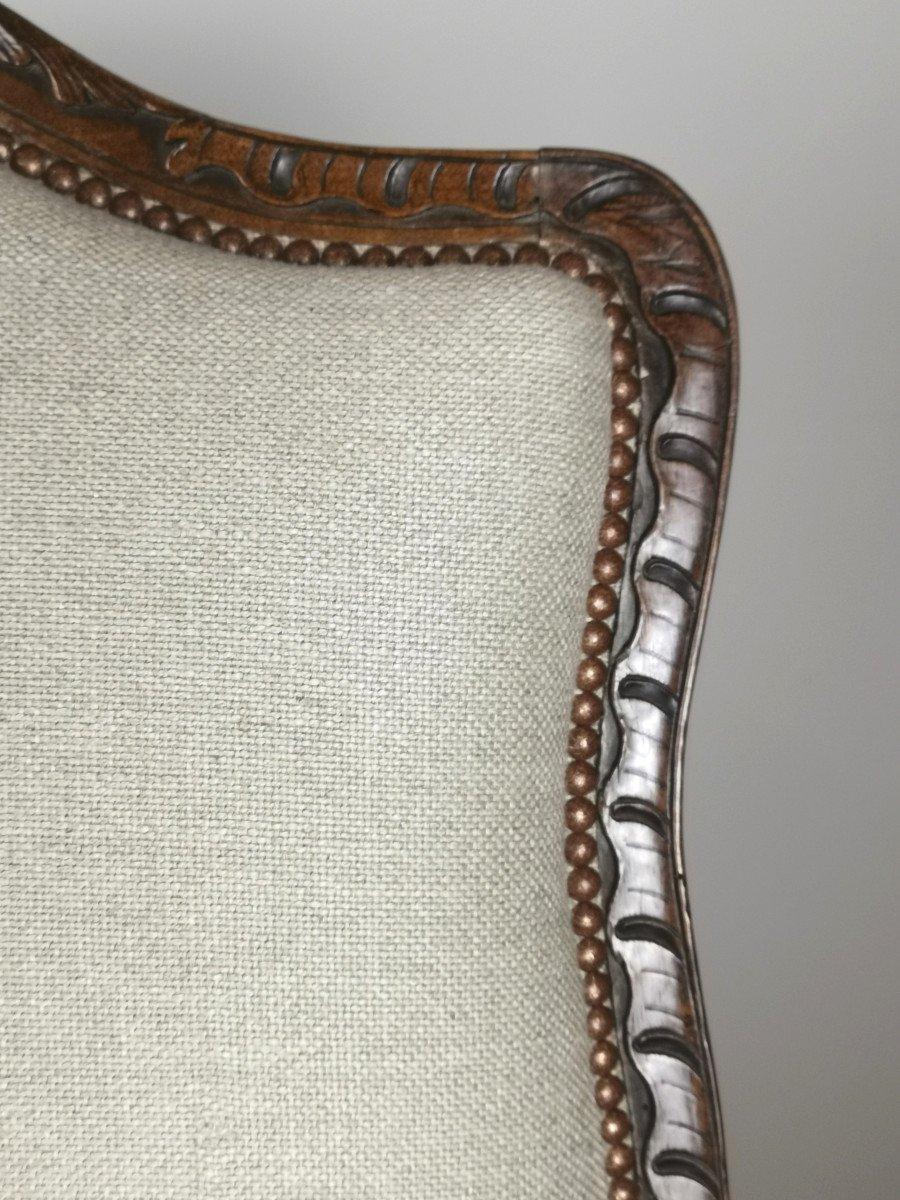 A Louis XV Walnut Bergère 18th Century.-photo-3