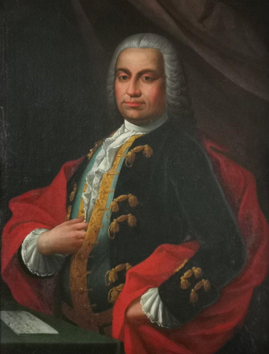 Don Franco Billo-tta - Portrait d'Un Noble Magistrat Pavesan, Lombardie XVIIIe Siècle-photo-2
