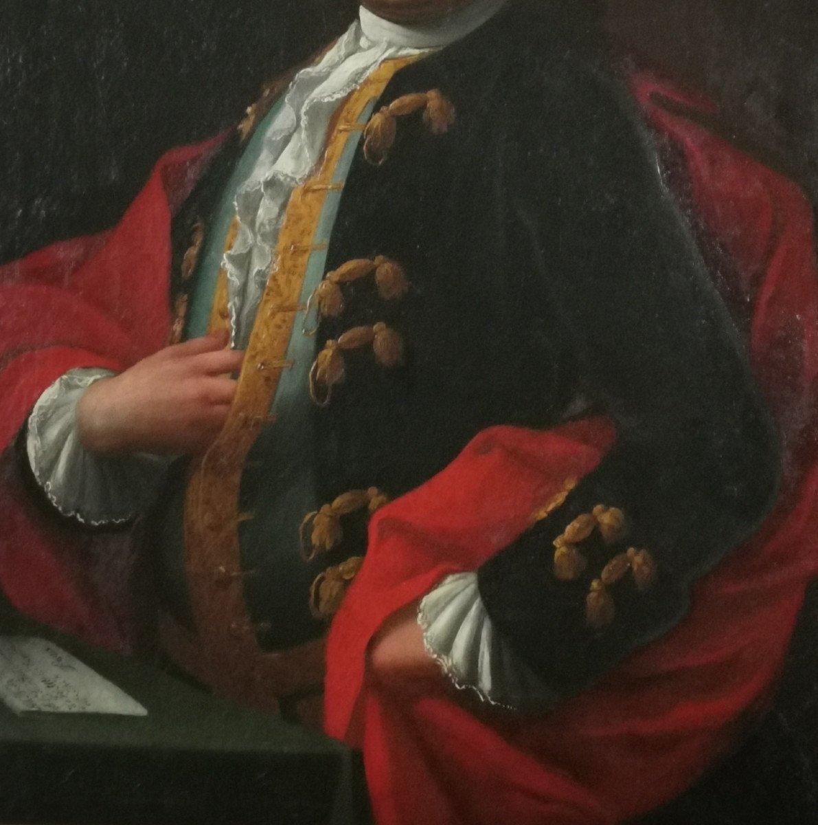 Don Franco Billo-tta - Portrait d'Un Noble Magistrat Pavesan, Lombardie XVIIIe Siècle-photo-3
