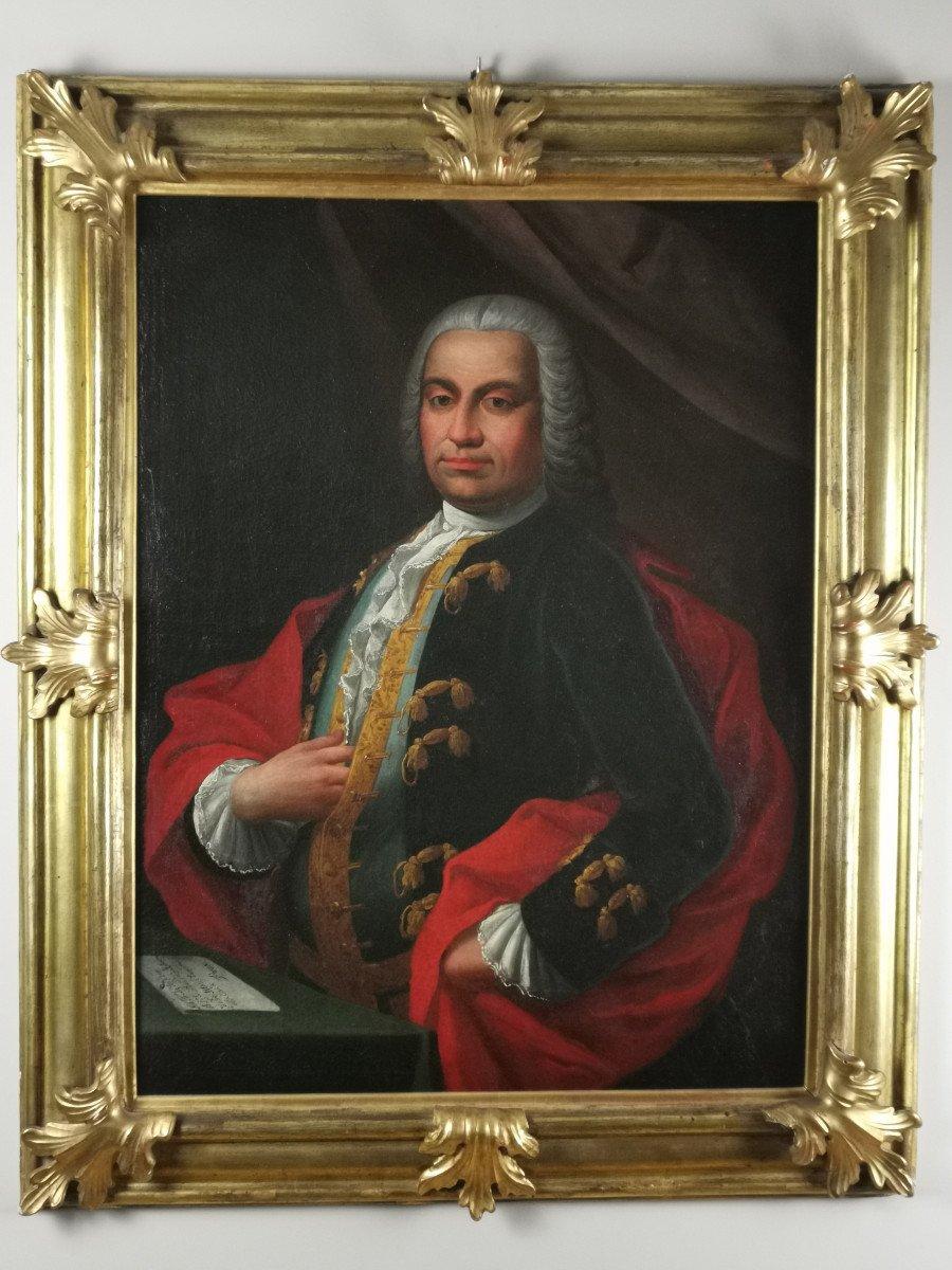 Don Franco Billo-tta - Portrait d'Un Noble Magistrat Pavesan, Lombardie XVIIIe Siècle-photo-6
