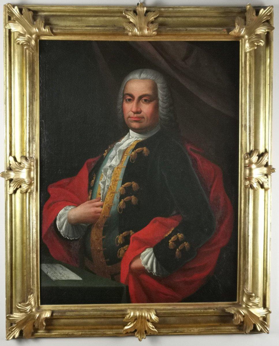 Don Franco Billo-tta - Portrait d'Un Noble Magistrat Pavesan, Lombardie XVIIIe Siècle
