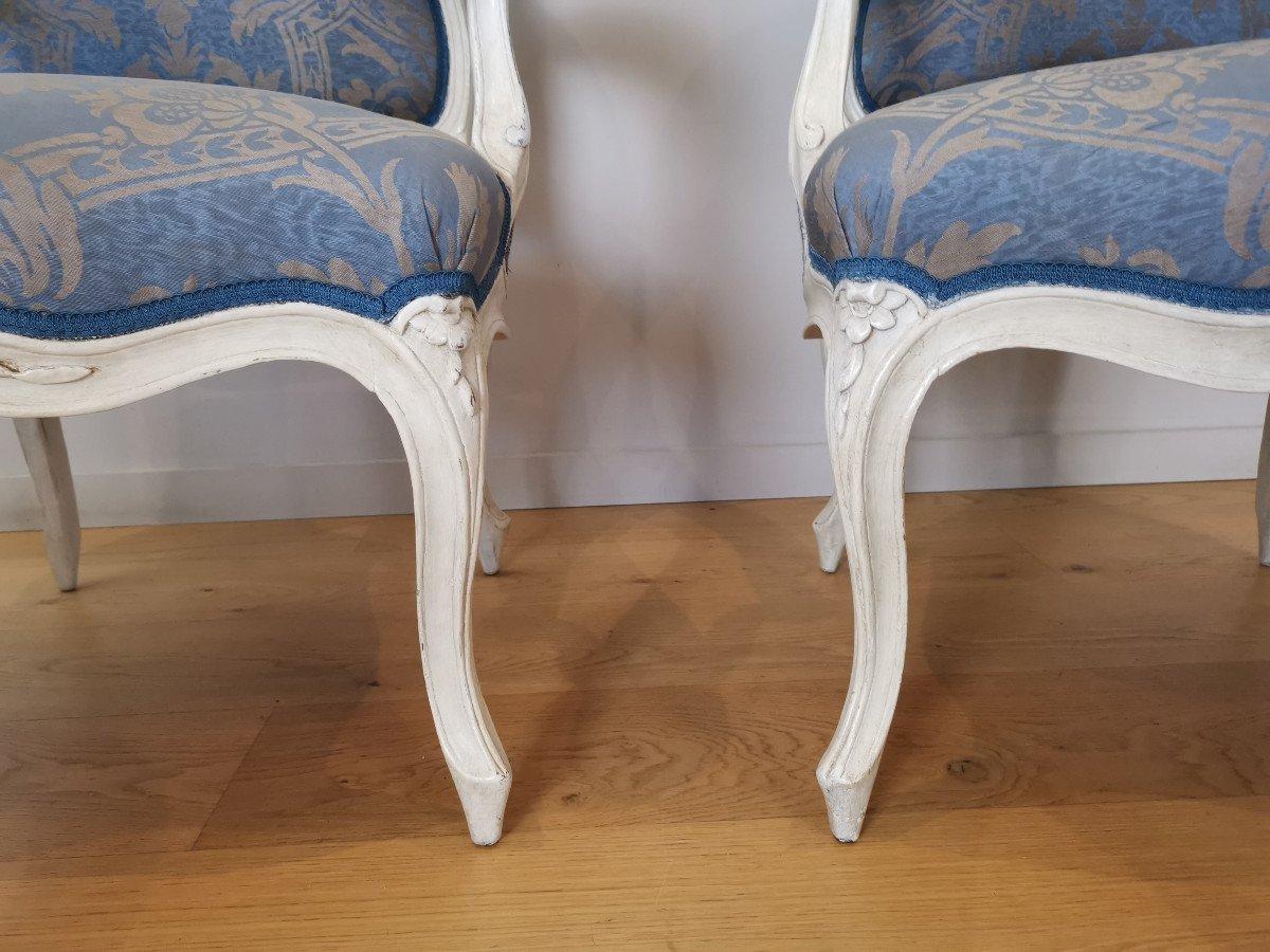 Suite de quatre fauteuils  estampillés de Louis-michel Lefèvre, d'époque Louis XV.-photo-3