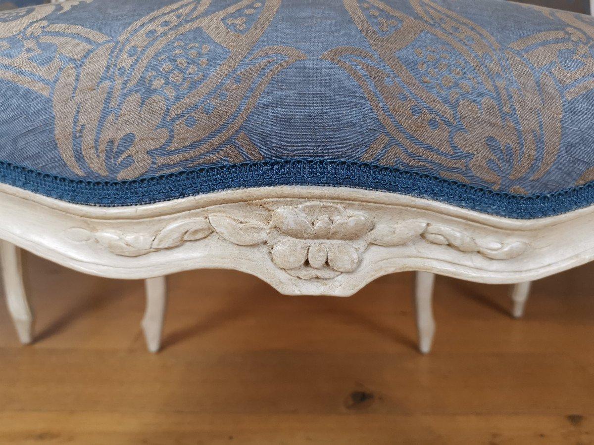 Suite de quatre fauteuils  estampillés de Louis-michel Lefèvre, d'époque Louis XV.-photo-4
