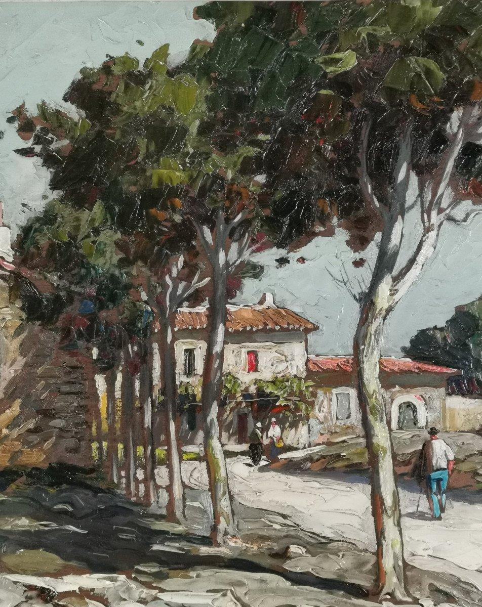 Gustave Vidal, 1895-1966 - La Route Provençale Bordée De Platanes.-photo-3