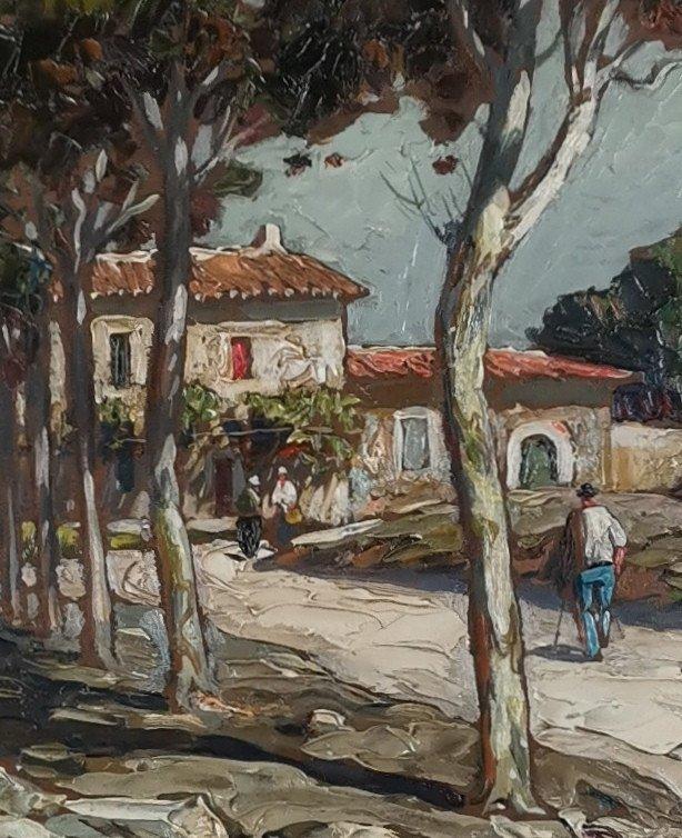 Gustave Vidal, 1895-1966 - La Route Provençale Bordée De Platanes.-photo-2