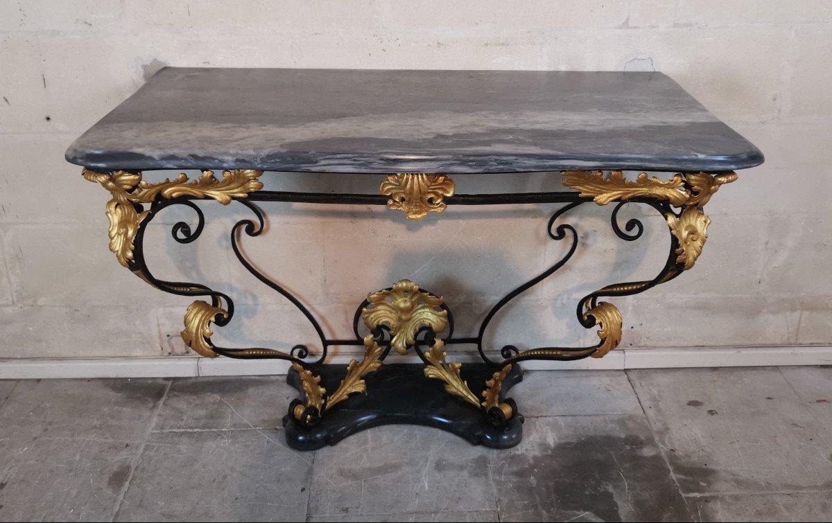 Console Du Comtat Venaissin En Ferronnerie, D'époque Début XVIIIe.