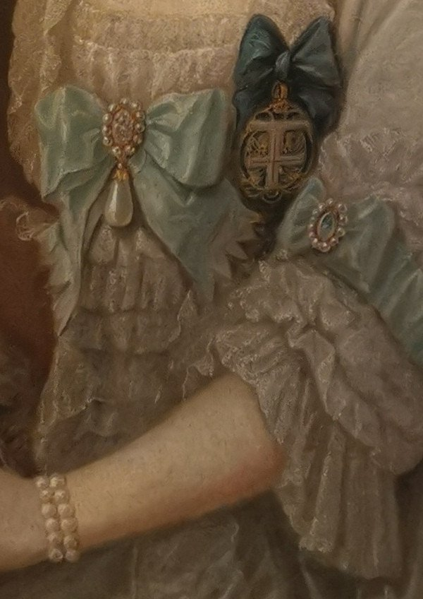 Portrait Son Altesse Sérénissime Marie Victoire d'Arenberg (1714-1793).-photo-1