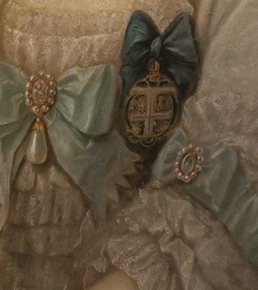Portrait Son Altesse Sérénissime Marie Victoire d'Arenberg (1714-1793).-photo-2
