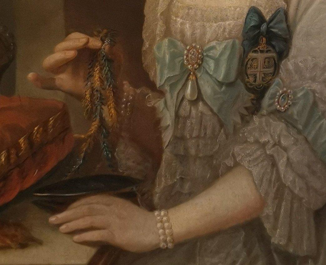 Portrait Son Altesse Sérénissime Marie Victoire d'Arenberg (1714-1793).-photo-3
