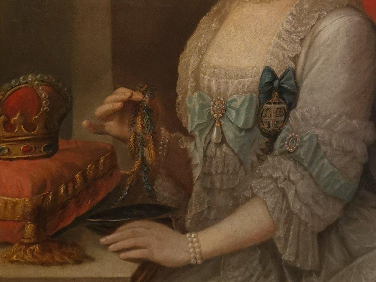 Portrait Son Altesse Sérénissime Marie Victoire d'Arenberg (1714-1793).-photo-4