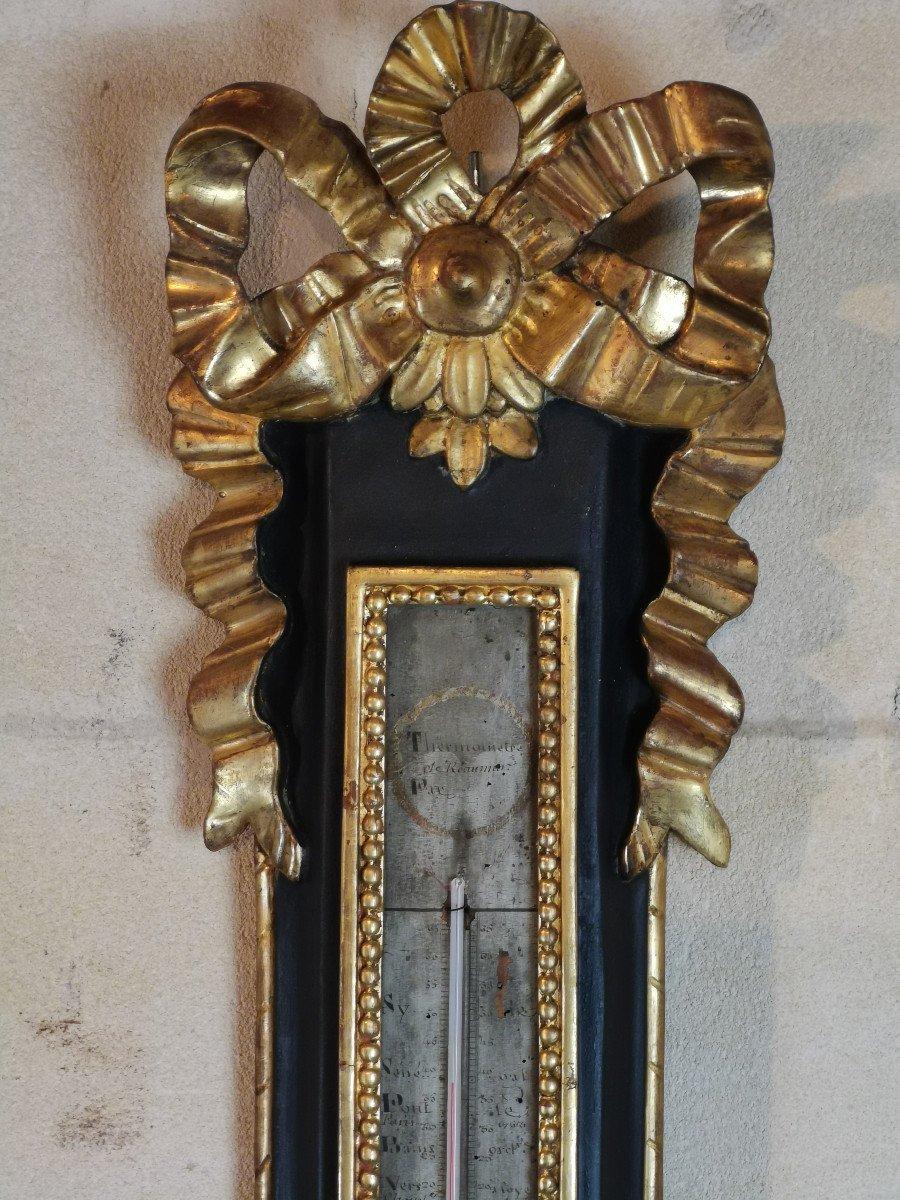 Baromètre Néoclassique D'époque Louis XVI, XVIIIe Siècle.-photo-2