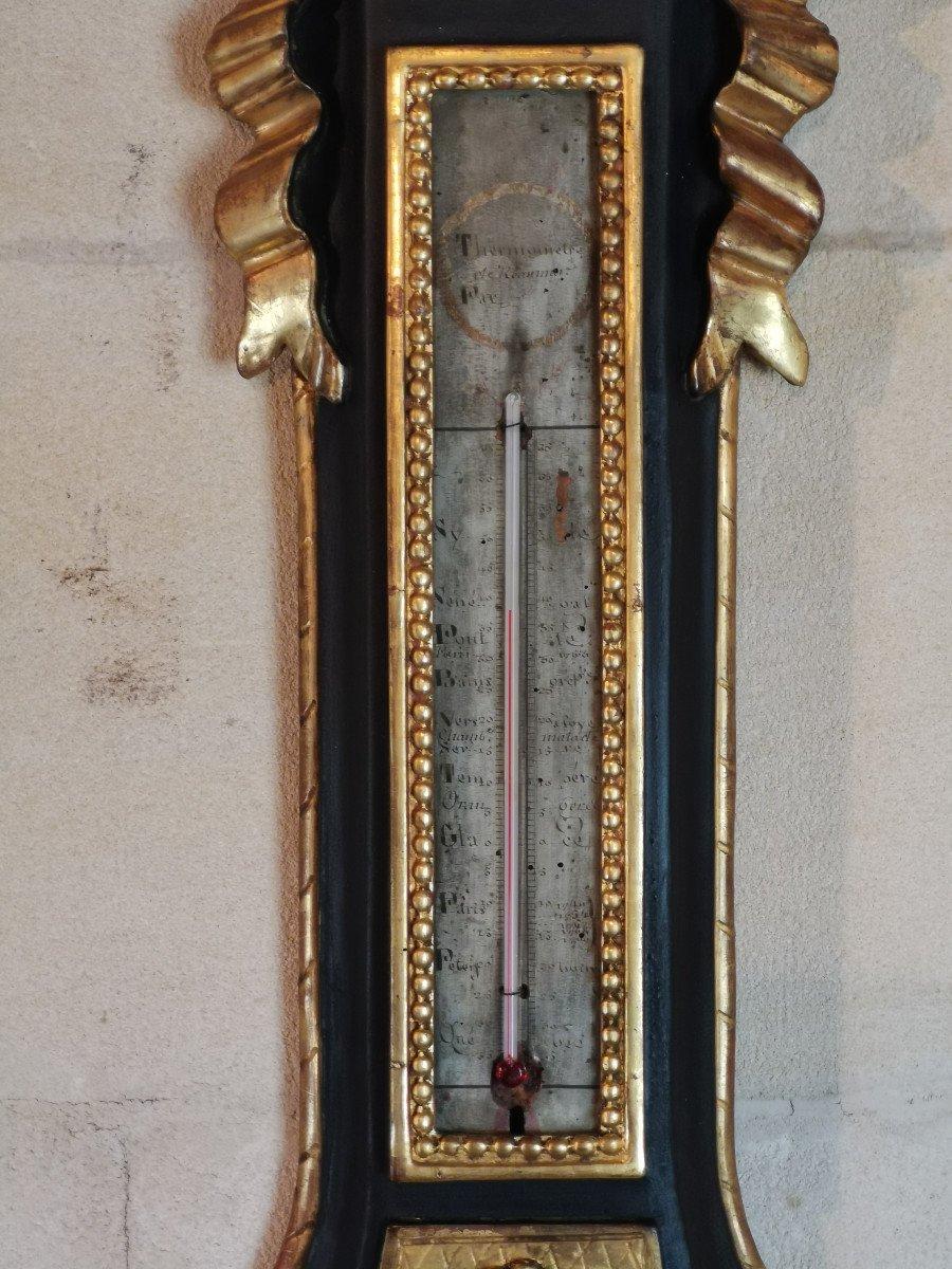 Baromètre Néoclassique D'époque Louis XVI, XVIIIe Siècle.-photo-3