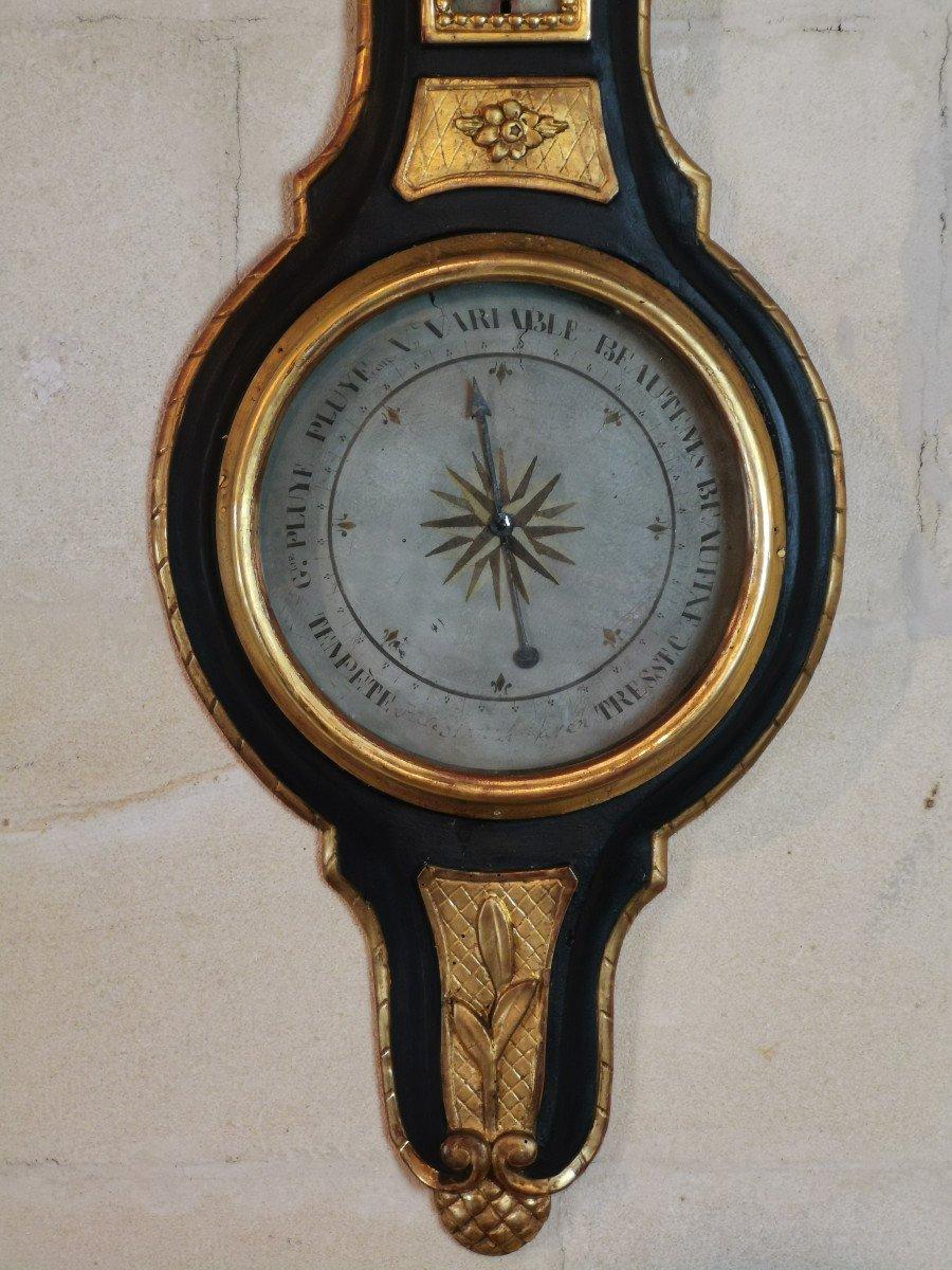 Baromètre Néoclassique D'époque Louis XVI, XVIIIe Siècle.-photo-1
