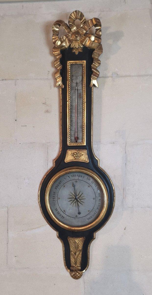 Baromètre Néoclassique D'époque Louis XVI, XVIIIe Siècle.-photo-5