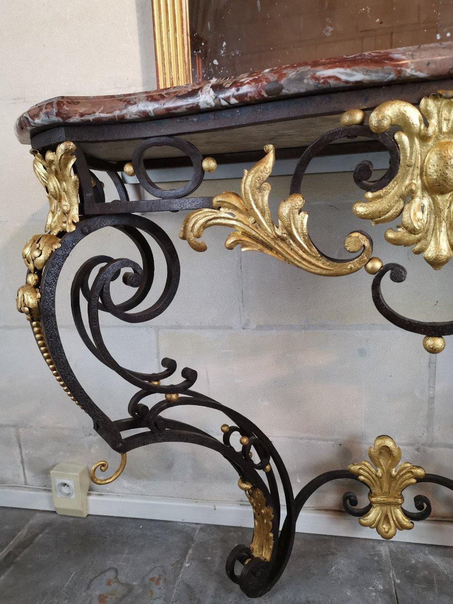 Console Du Comtat Venaissin En Ferronnerie, Avignonnaise Post Révolutionnaire.-photo-2
