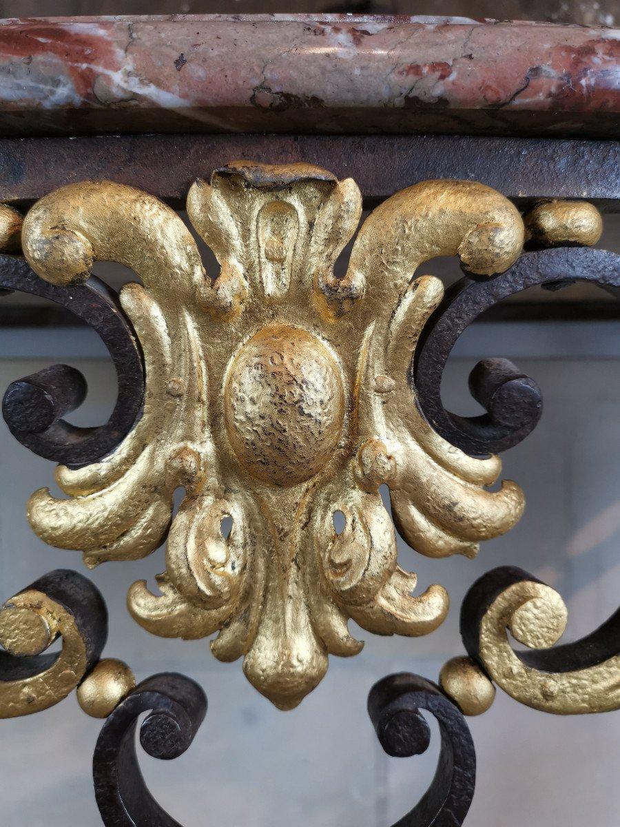 Console Du Comtat Venaissin En Ferronnerie, Avignonnaise Post Révolutionnaire.-photo-6