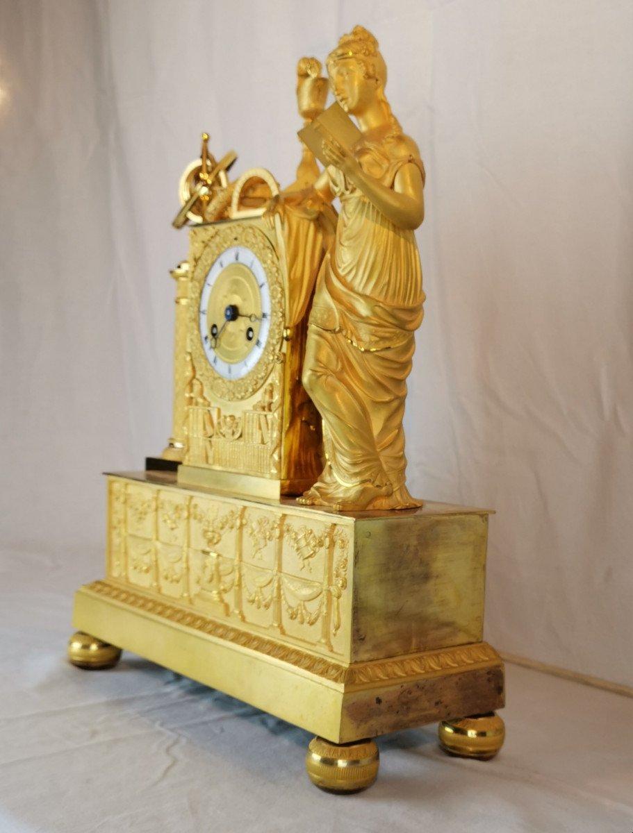 Pendule D'époque Empire Dite Aux Objets Scientifiques.-photo-1