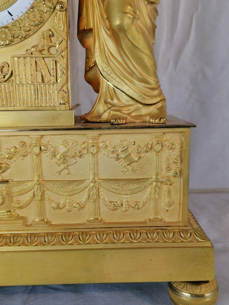 Pendule D'époque Empire Dite Aux Objets Scientifiques.-photo-8