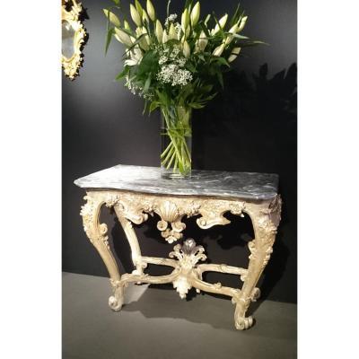 Table à Gibier Console Argentée d'époque Louis XIV