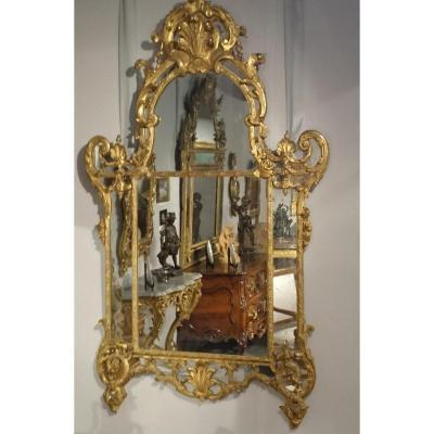 Miroir d'époque Régence Du Début Du XVIIIème Siècle – Vers 1715 - 1735