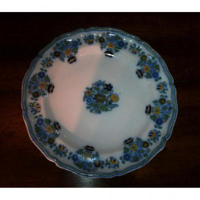 Moustiers Plate Decorated With Flowers Solanaceae