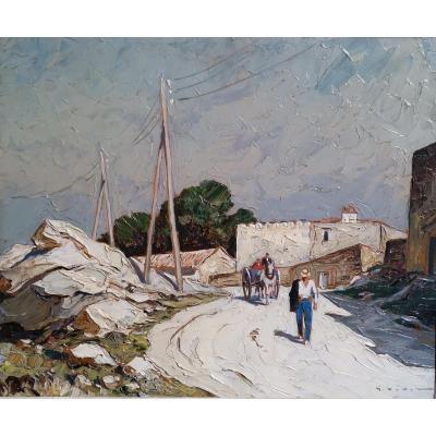 La Route Du Vieux Moulin Villeneuve Les Avignon- Gustave Vidal.