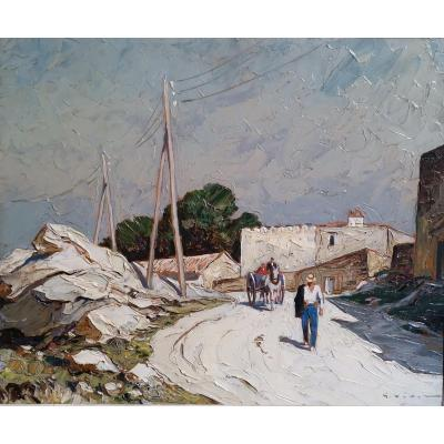 The Old Mill Road Villeneuve Les Avignon- Gustave Vidal.