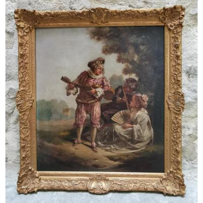 The Serenade After Jean-antoine Watteau