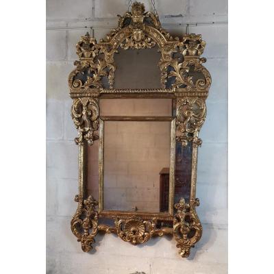 Miroir d'époque Régence Vers 1700-1720