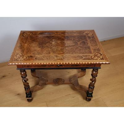 Louis XIV Period Table Inlaid Late 17th Century.