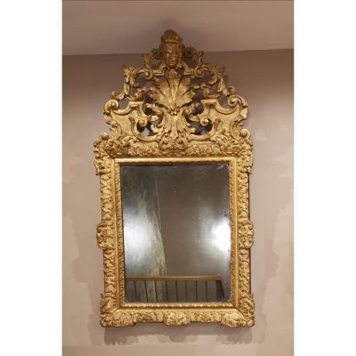 Miroir d'époque Louis XIV, vers 1680 .