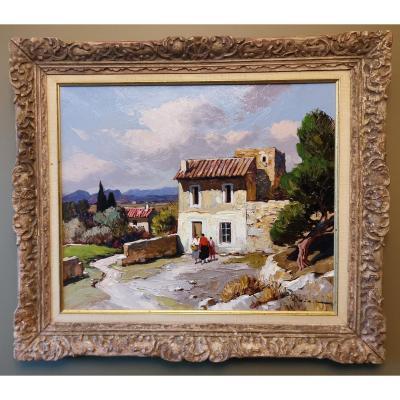 Gustave Vidal, Provençal Landscape, Barbentane, Avignon.