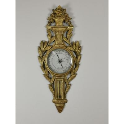 A Louis XVI Barometer Thermometer Circa 1776-1780