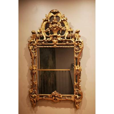 A Louis XV Giltwood Mirror From Provence – Mid 18th Century Circa 1750-1760