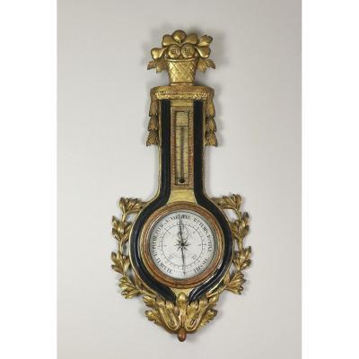 Baromètre-thermomètre D'époque Louis XVI