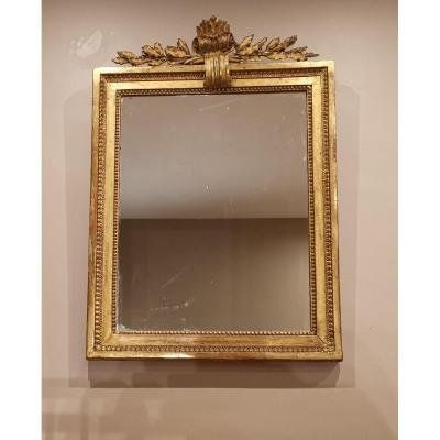 A Louis XVI Neoclassical Mirror 18th Century Circa 1780.